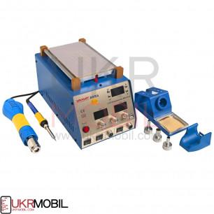 Паяльная станция термовоздушная, турбинная + вакуумный сепаратор Ya Xun 889A (фен + паяльник, 2 цифровых дисплея)