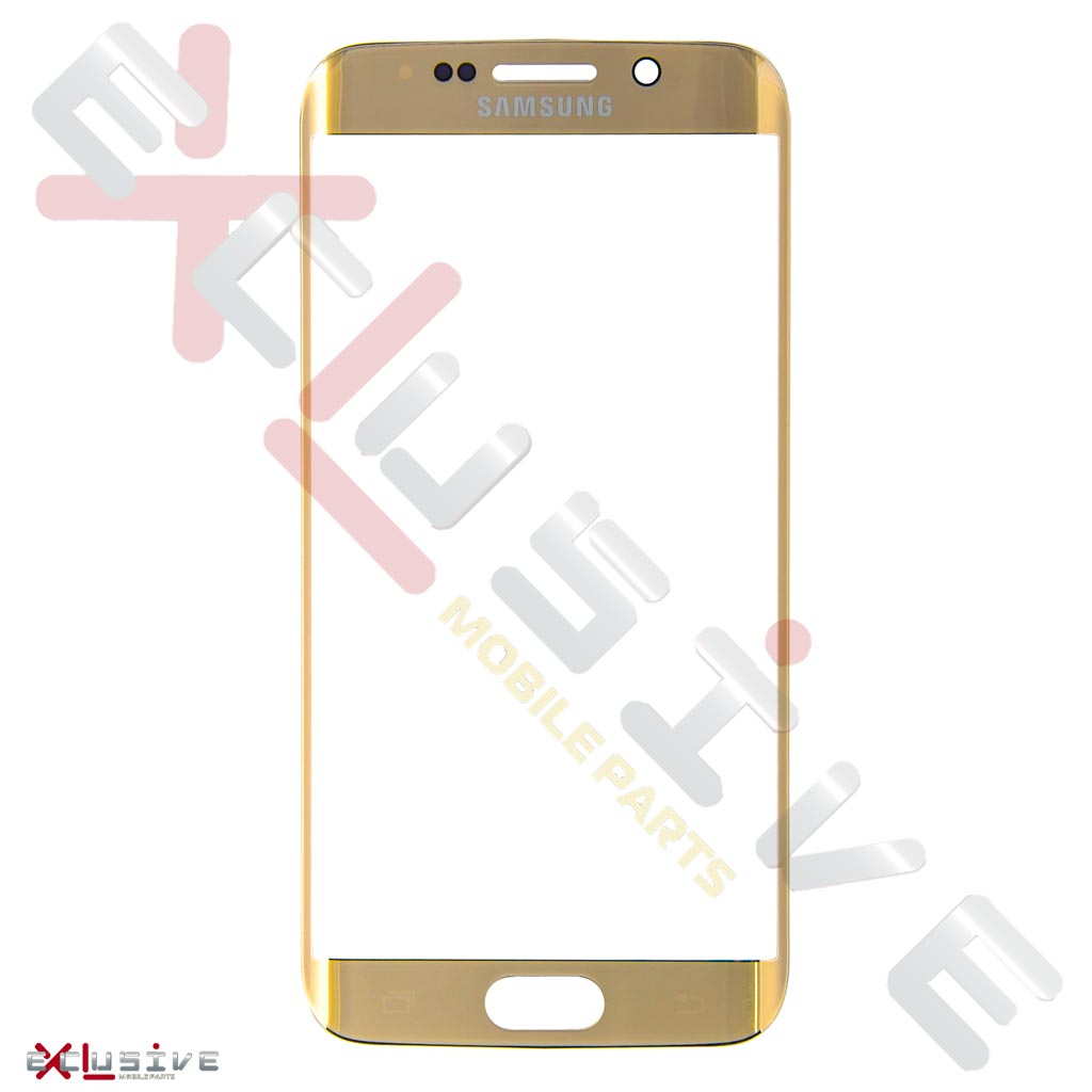 Стекло дисплея Samsung G925 Galaxy S6 Edge Gold, фото № 1 - ukr-mobil.com